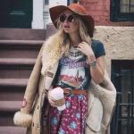 Robe longue hippie avec tres beaux motifs