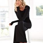 Robe manche longue noire simple