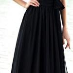 Robe pour mariage sans manche longue noire habillee