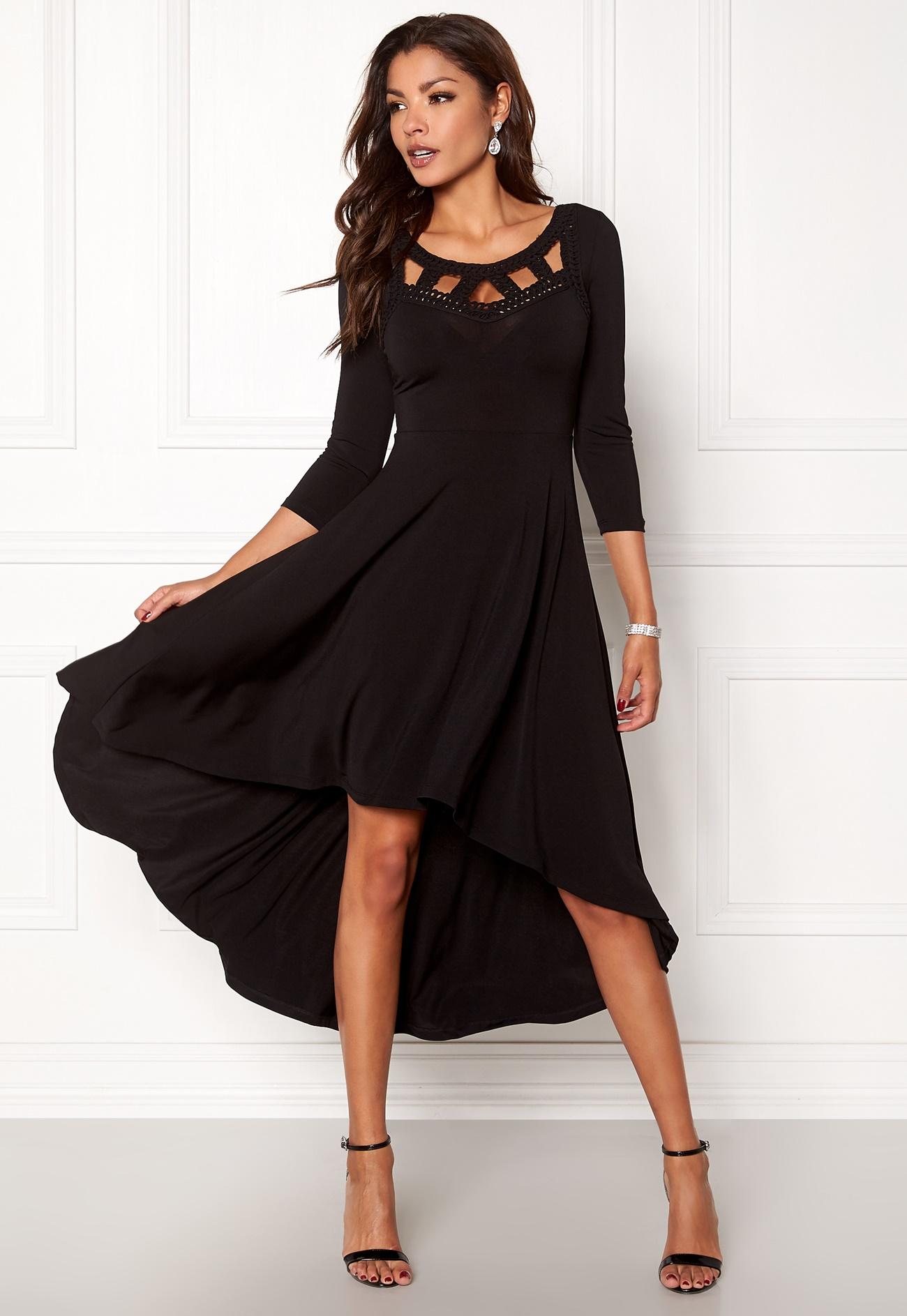 robe noir mi longue de tout les jour
