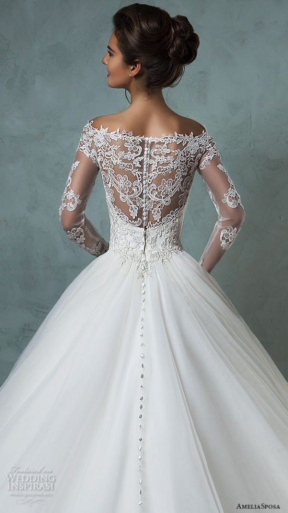 Robe blanche longue dos dentelle mariee