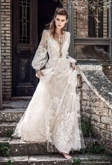 Robe de princesse longue dentelle mariage blanche
