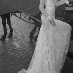 Robe dentelle blanche longue traine pour mariee