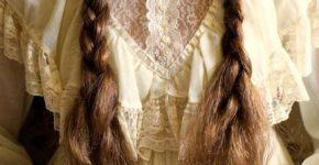 Robe longue dentelle boheme a volants manches longues