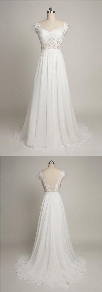Robe longue dentelle sur le haut pour mariage long jupon fluide
