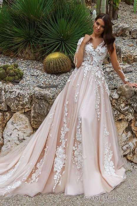 Robe mariage rose dentelle
