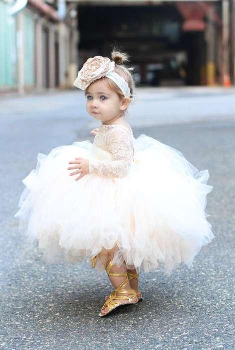 Robe tutu petite fille pour mariage