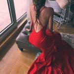 Jolie robe rouge esprit andalouse speciale saint valentin joli dos nu
