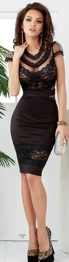 Robe mi longue sexy noire pour saint valentin
