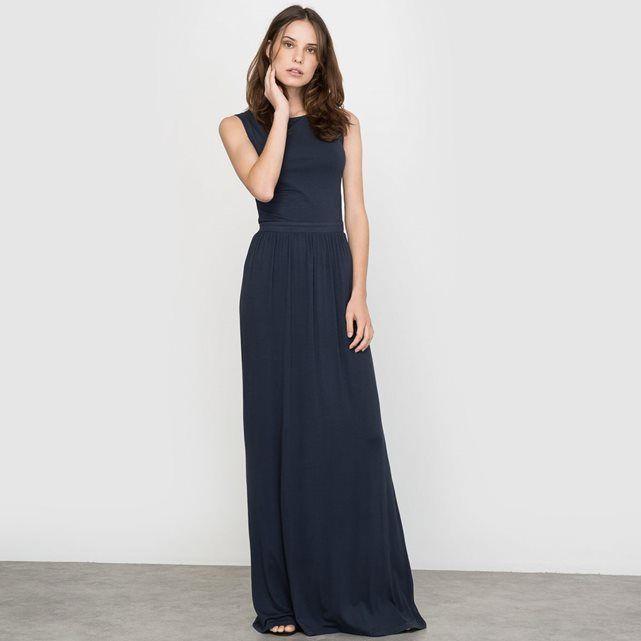 Laura clement robe bleu marine maxi longue