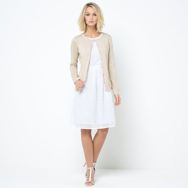 La redoute Laura clement robe blanche mi longue
