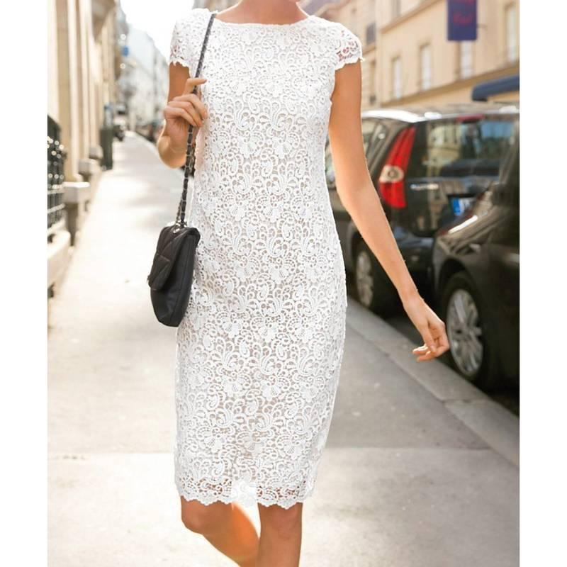 la redoute Laura clement robe chic en dentelle blanche
